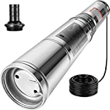 Happybuy Well Pump 1/2 HP Submersible Well Pump 164ft Head 25.5 GPM Stainless Steel Deep Well Pump...