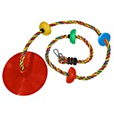 Jungle Gym Kingdom Rope Swing - Tree Climbing Ropes & Disc Swings for Kids w/ Red Seat for Swinging...