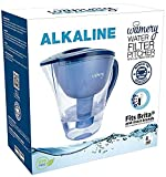 Alkaline Water Filter Pitcher 8 Cup, Free Filter Cartridge Included, Increases Water pH, Removes...