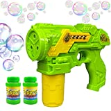 Haktoys Bubble Shooter Gun   Ready to Play Light Up Blower with LED Flashing Lights, Extra Refill...
