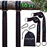 Sims-Tools - Tree Swing Hanging Kit Straps - 2 Extra Long Adjustable Straps 10ft and 2 Strong...