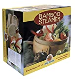 JADE TEMPLE Steamer Set Bamboo 2 Baskets with 1 Lid in Gift Box Brown, Bamboo, Brown, Durchmesser 25...