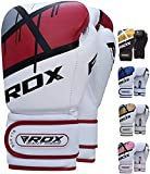 RDX Boxing Gloves for Training Muay Thai Maya Hide Leather Mitts for Fighting, Kickboxing, Sparring...
