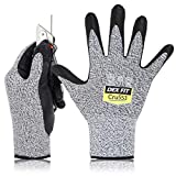 DEX FIT Level 5 Cut Resistant Gloves Cru553, 3D Comfort Stretch Fit, Power Grip, Durable Foam...