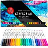 Fabric Markers Pens Permanent 24 Colors Fabric Paint Art Markers Set Child Safe & Non-Toxic....