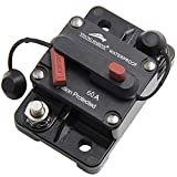 Young Marine Circuit Breaker for Boat Trolling with Manual Reset,Water Proof,12V- 48V DC (Surface...