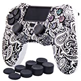 YoRHa Water Transfer Printing Flowers Silicone Cover Skin Case for Sony PS4/slim/Pro Dualshock 4...