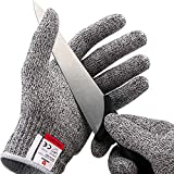 NoCry Cut Resistant Gloves - Ambidextrous, Food Grade, High Performance Level 5 Protection. Size...