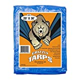 B-Air Grizzly Tarps - Large Multi-Purpose, Waterproof, Heavy Duty Poly Tarp Cover - 5 Mil Thick...